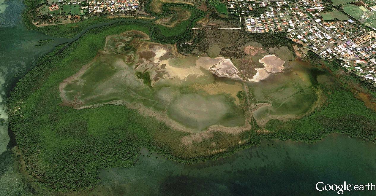 Google Earth view of Geoff Skinner Wetlands