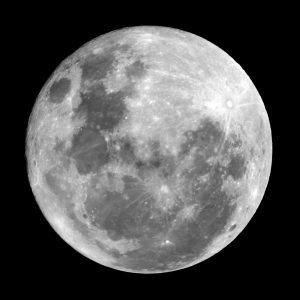 The full moon photographed from Cleveland on 16 October 2016
